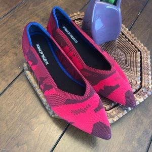 Red slip on shoes